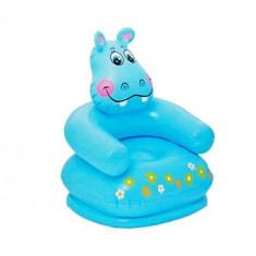 Fotoliu gonflabil hipopotam albastru INTEX (68556)