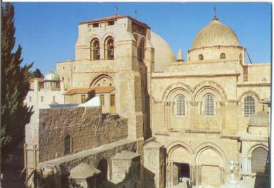 AD 1113 C. P. VECHE -IERUSALEM,  CHURCH OF THE HOLY SEPULCHRE -IERUSALIM -ISRAEL foto
