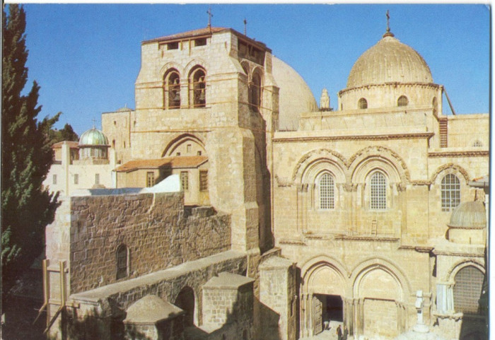 AD 1113 C. P. VECHE -IERUSALEM,  CHURCH OF THE HOLY SEPULCHRE -IERUSALIM -ISRAEL