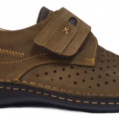Pantofi barbati casual din piele nabuc cu scai Otter 9583