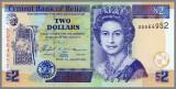 BELIZE P-66 - 2 Dollars 2005 UNC
