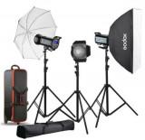 Kit 3 Blituri si accesorii Godox QS300II-D