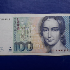 100 Mark 1991 bancnota marci Germania