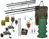 Kit pescuit crap cu 2 lansete, mulinete, senzori, saltea primire si accesorii, Lansete Crap, 3.6