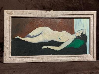 Pictura Nud - Vasile Grigore ? - ulei pe carton foto