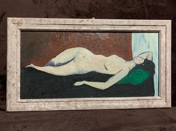 Pictura Nud - Vasile Grigore ? - ulei pe carton