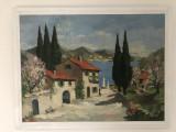 Pictura,tablou vechi  francez,in ulei pe panza,tehnica spaclu,semnat
