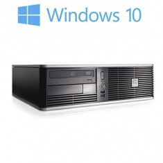 Calculatoare second hand HP Compaq DC5800 SFF, Intel Core 2 Duo E8400, Windows 10 Home