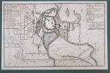 NEUE BELAGERUNG DER FESTUNG TEMESWAR ( NOUL ASEDIU AL CETATII TIMISOARA ) , LA 1 SEPTEMBRIE 1716 , HARTA MILITARA IN LIMBA GERMANA , GARVURA , INCEPUT