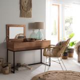 Masuta de toaleta Evinston I din stejar masiv/metal