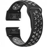 Cumpara ieftin Curea ceas Smartwatch Garmin Fenix 5, 22 mm iUni Silicon Sport Negru-Gri