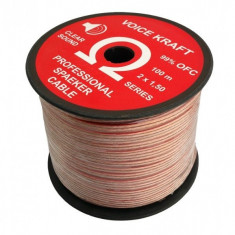 Cablu Audio Profesional pentru Difuzoare, Lungime 1m, 2x1.50mm