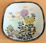 Centru masa / bol - portelan Japonia - coaja de ou - pictat manual