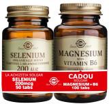 Solgar Pachet Selenium 200mcg 50tablete + Magnesium cu B6 100 tablete GRATIS