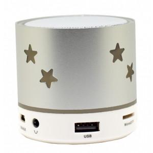 Boxa Portabila iUni DF04, Slot Card, Radio, Aluminiu, Argintiu