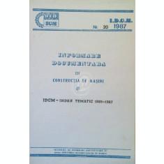 Informare documentare in constructia de masini, Nr. 20 - IDCM- Index tematica 1985-1987