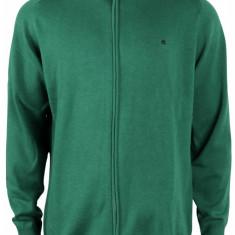 Pulover pentru barbati Casa Moda, cu fermoar, bumbac, Verde