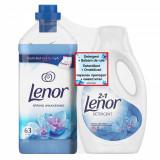 Pachet Detergent lichid Lenor Spring Awakening, 20 spalari + Balsam de rufe Lenor Spring Awakening, 1.9 l