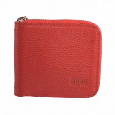 Portofel dama, din piele naturala, marca Bond, 493-282-5, rosu