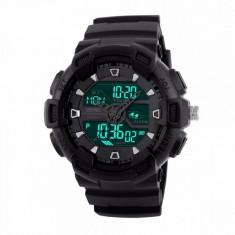 Ceas Barbatesc SKMEI CS897, curea silicon, digital watch, Functii- alarma, ora, lumina cadran, rezistent 3ATM