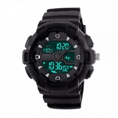 Ceas Barbatesc SKMEI CS897, curea silicon, digital watch, Functii- alarma, ora, lumina cadran, rezistent 3ATM foto