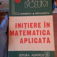 Initiere in matematica aplicata – C. Dinescu