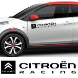 Sticker auto laterale CITROEN RACING (set 2 buc.)