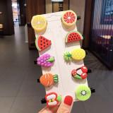Cumpara ieftin Set de 10 clame clips pentru par - Fructe