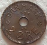 Moneda istorica 2 ORE - DANEMARCA, anul 1931   *cod 1010 - EXCELENTA