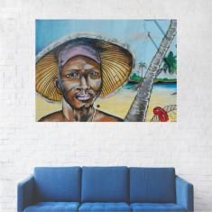 Tablou Canvas, Portret Barbat pe Plaja - 20 x 25 cm