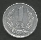 POLONIA 1 ZLOT ZLOTY 1966 [1] XF , livrare in cartonas, Europa, Aluminiu