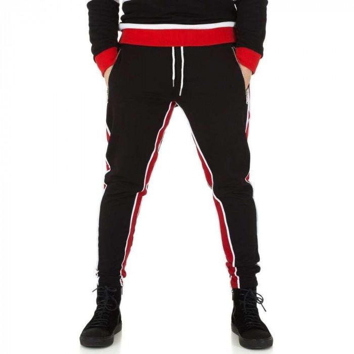 Pantaloni de trening, de culoare neagra, din bumbac - Uniplay