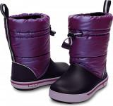 Cizme Fete casual Crocs Crocband Iridescent Gust Boot, 25.5, Violet