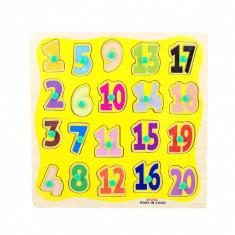 Puzzle din lemn cu cifre 1-20 - invata sa numeri ZY255