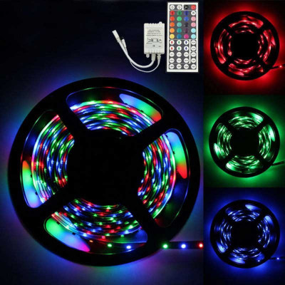KIT BANDA LED RGB IP65 CU ALIMENTATOR SI CONTROLER foto