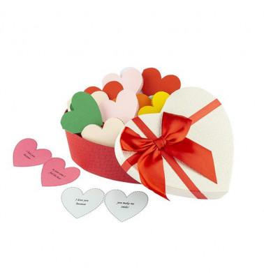 30 Reasons Why I Love You, mesaje-inima, diverse modele de cutii, cadou iubit(a), multicolor foto