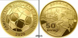 ROMANIA 2021 50 Bani, Campionatul European de Fotbal, Proof