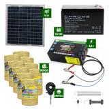 Pachet gard electric cu Panou solar 2,5J putere și 9000m Fir 160Kg
