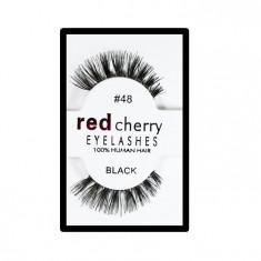 Gene false Red Cherry din par natural tip banda Nr 48