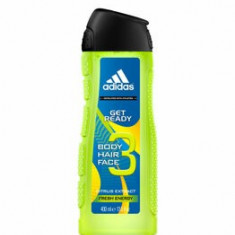 Gel de dus Adidas 3in1 Get Ready!, 400 ml, pentru barbati