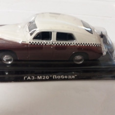 Macheta metal gaz m20 pobeda taxi - noua, scara 1/43, masini de serviciu rusia., 1:43