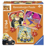 PUZZLE MINIONS 3 IN 1, 25/ 36/ 49 PIESE, Ravensburger