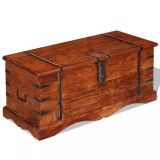 Cufăr de depozitare din lemn esență tare