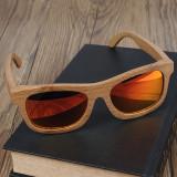 Cumpara ieftin Ochelari de soare din lemn Bobo Bird BG003, lentila portocaliu