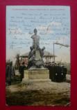 Teleorman Alexandria Statuia Cuza Voda in gradina publica, Circulata, Printata