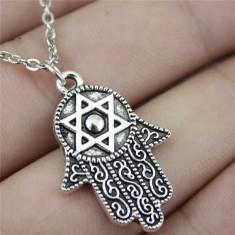 Pandantiv tema religioasa simbol evreu steaua lui David HAMSA, Diesel