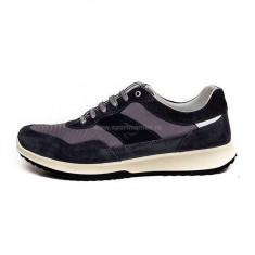 Pantofi Bărbați casual Piele Grisport Agrinierite, 42, Albastru