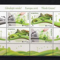 ROMANIA 2016 -  EUROPA 2016 - GANDESTE VERDE - BLOCUL 1 - LP  2103a