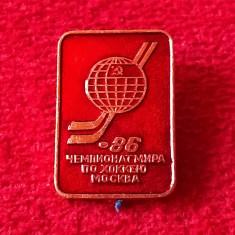 Insigna Hockey - Campionatul Mondial Moscova 1986