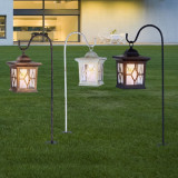 Felinar solar LED, efect flacara, 600mAh, ABS, metal, Globo